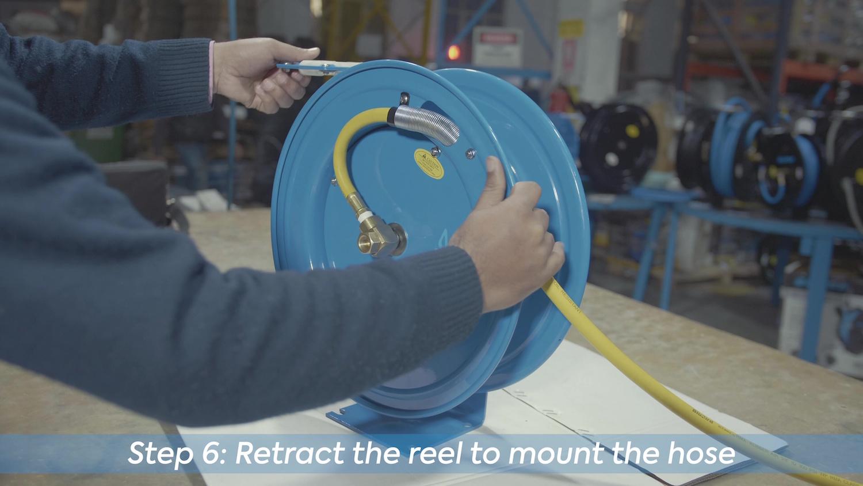 Zephyr: Mounting Hose on Reel Drum
